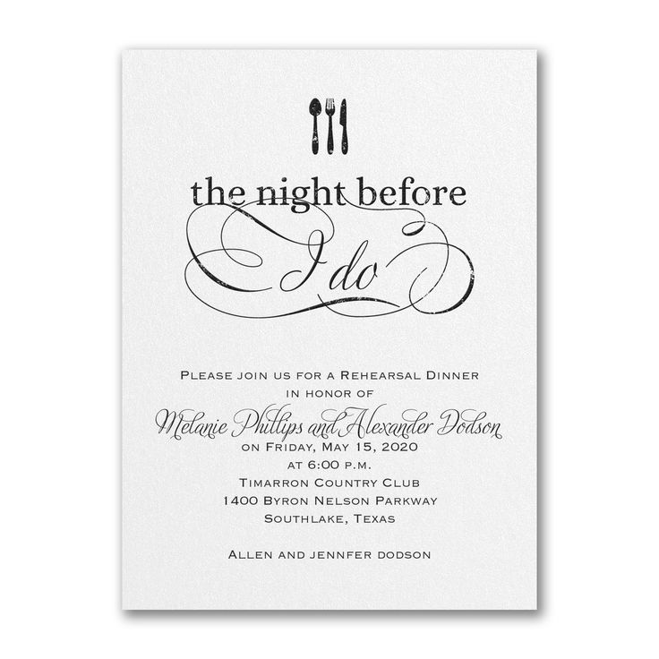 Best Rehearsal Dinner Invites Images On