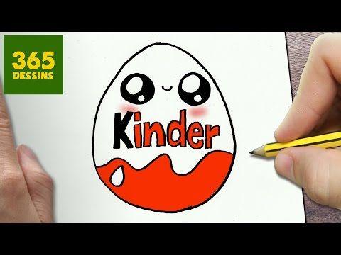 COMMENT DESSINER KINDER KAWAII ÉTAPE PAR ÉTAPE – Dessins kawaii facile - YouTube