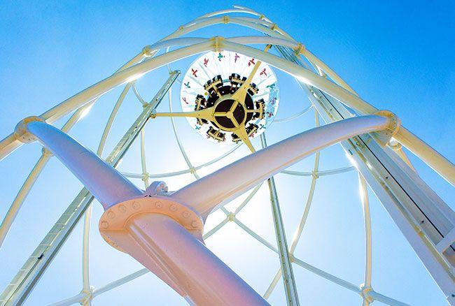 Le Parc du Petit Prince, premier parc au monde où tout se vit dans les airs. ©Michel Caumes