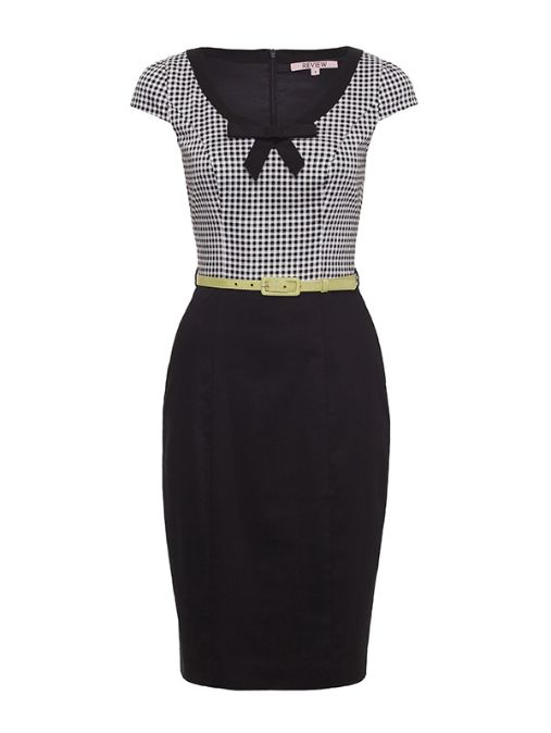 Review Australia | Mon Amie Check Dress Black/cream. Own it. Love it!!! Super cute dress for work!!! Very chic and fun. Adore it!!! ♥