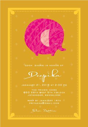 Pink Ellie | Custom Godh Bharai Invitations
