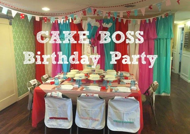 Cake Boss Birthday Party by One Thrifty Chick