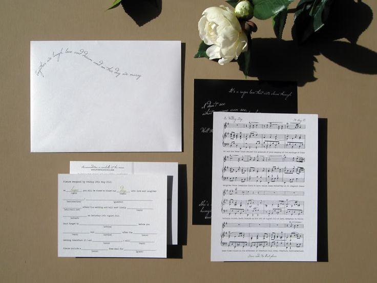 Music Theme Wedding Invitations