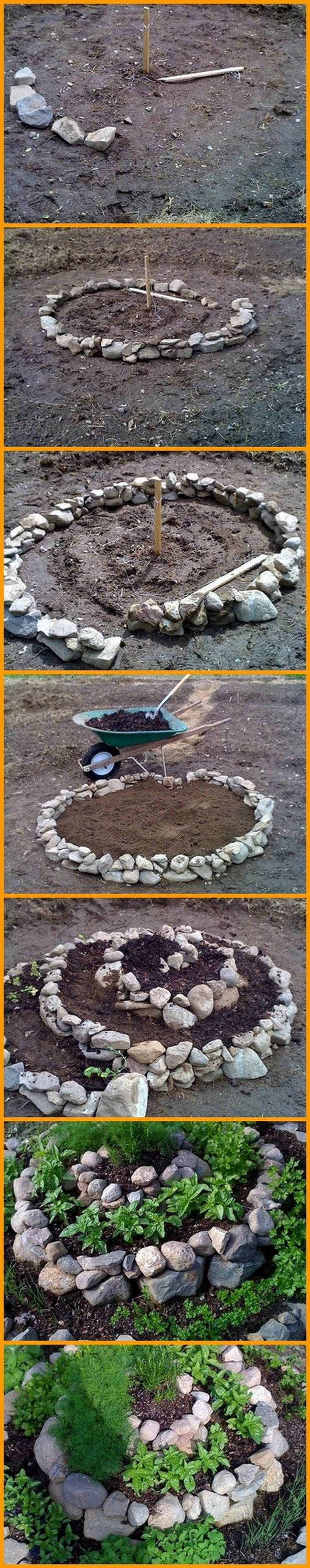 This is an interesting way of growing herbs in your garden. View the full album of this spiral planter here: http://theownerbuildernetwork.co/jtqu What type of herbs do you want to grow in your garden?