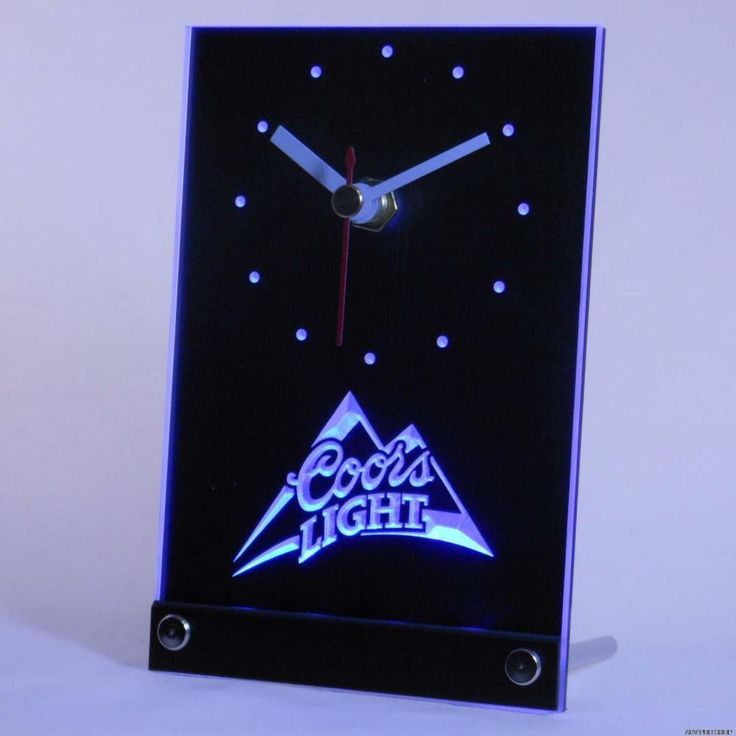 Coors Light Beer Table Desk Top 3D LED Clock Light  #Unbranded