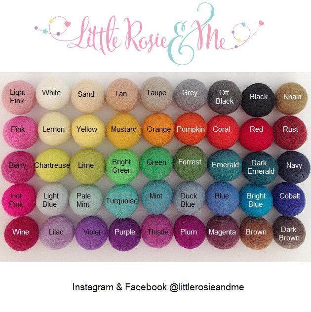 Felt Ball Garland - choose your own colours - Little Rosie & Me