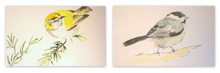 deux de mes aquarelles