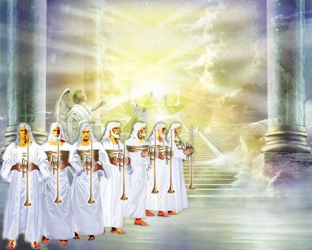 """When He opened the seventh seal, there was silence in heaven for about half an hour.  And I saw the seven angels who stand before God, and to them were given seven trumpets.  Revelation 8:1-2"