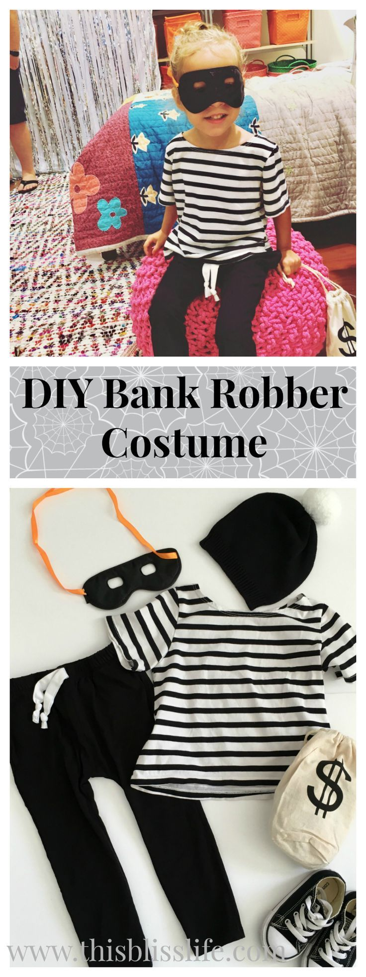 DIY Bank Robber Costume for Kids! | www.thisblisslife.com