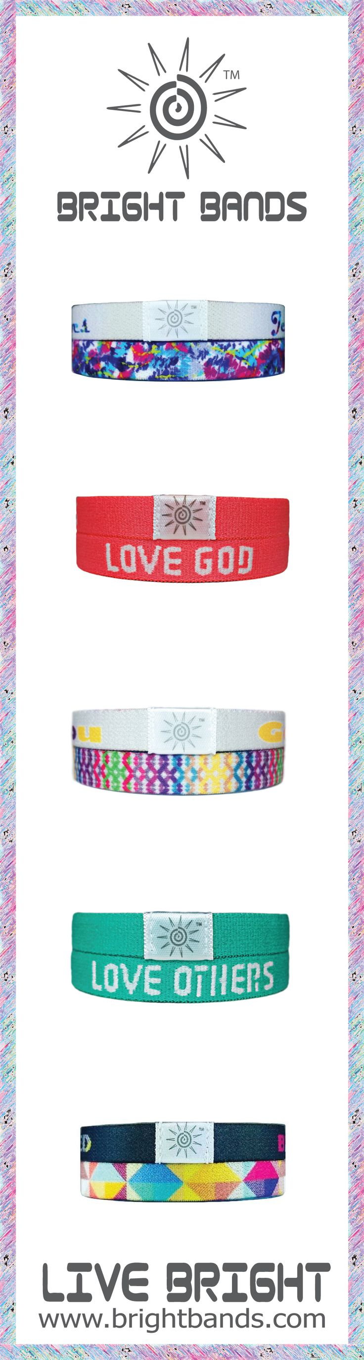 Bright Bands are the most comfortable bracelets ever. There are so many colors and phrases to choose from. These wristbands make perfect gifts. Get you and your friends some today at www.brightbands.com