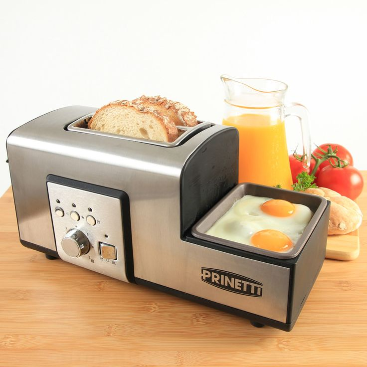 The Prinetti 2 slice toaster not only cooks your toast, muffins, bagels and even buns to perfection, but allows you to boil, fry or poach eggs at the same time - all in the one appliance! Cook breakfast at home in minutes, without the fuss. #kitchen #appliances