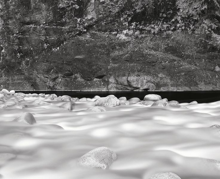 Capilano river with moving water | Lawrence Hislop Photography