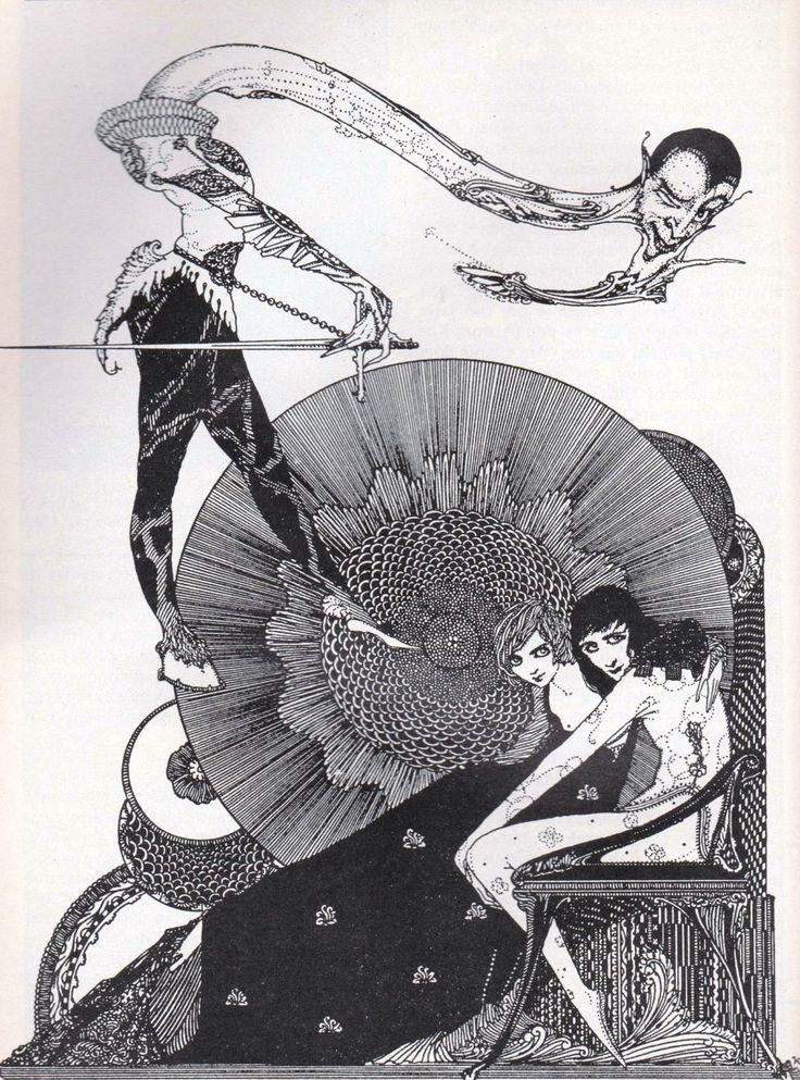 "Harry Clarke   illustration for Goethe's ""Faust""   via A.S.Arconti"