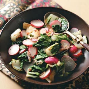 Bok Choy and Radishes, a nice side dish