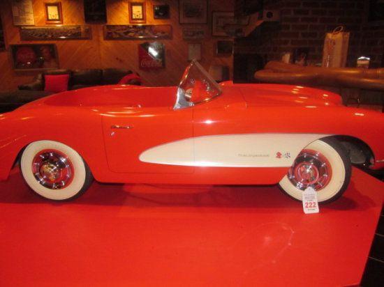 Vintage corvette pedal car