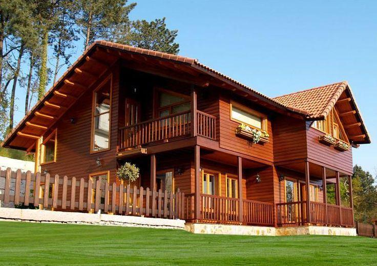 Casa de madeira sustentável