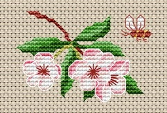 Cross Stitchers Club - blossom and bee - free download