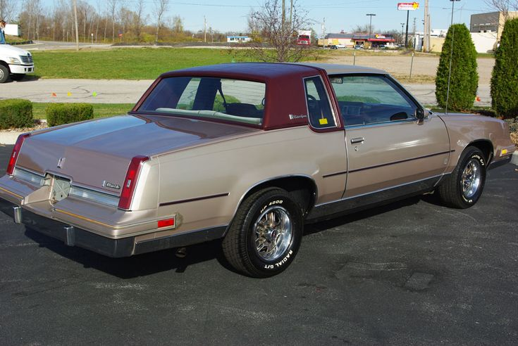 1984 Oldsmobile Cutlass Supreme Brougham. I bought one brand new just like this. It was a very comfortable, good riding and driving car. I put dual exhausts on it and the car ran much better!