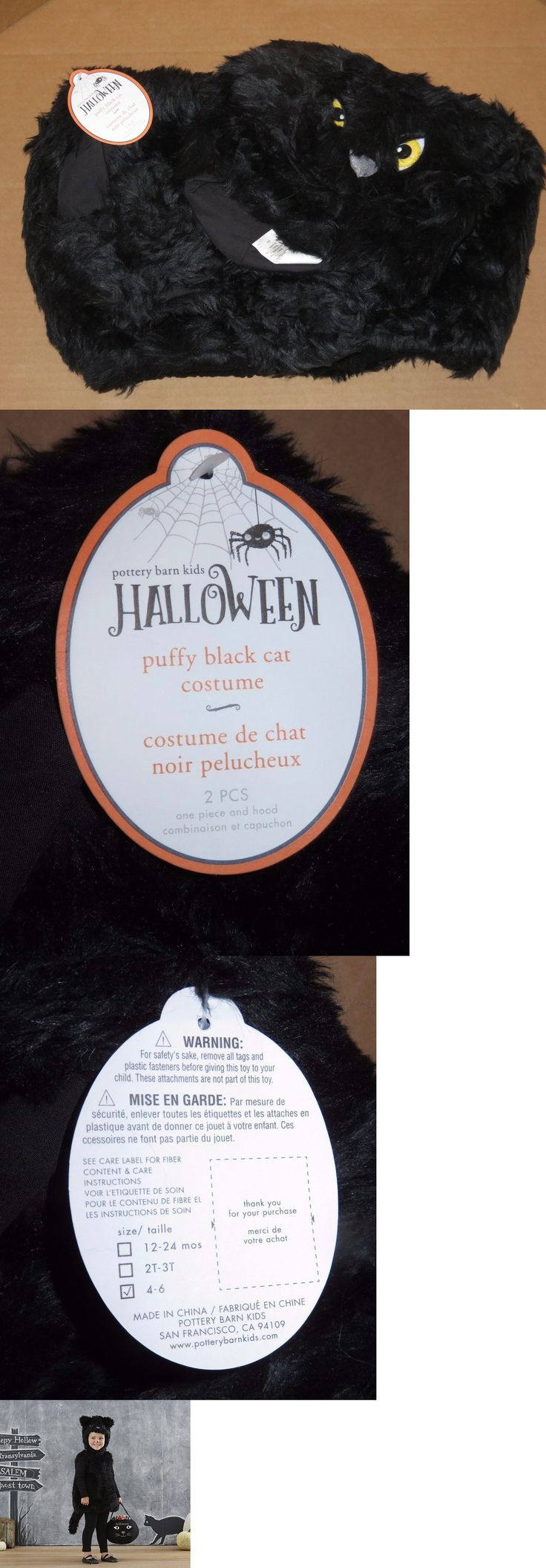 Halloween Costumes Kids: Nwt 2Pc Pottery Barn Kids Toddler Puffy Black Cat Halloween Costume 4-6 Year New -> BUY IT NOW ONLY: $54.5 on eBay!