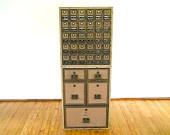 Vintage Post Office Mailbox Unit, Post Office Brass Mailbox, Industrial Decor, Manhattan Loft Furniture, Urban Decor, Storage Unit