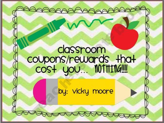 Classroom coupons/ rewards