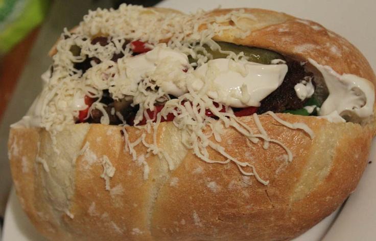 Vegan Philly Cheese Steak --- #vianasteak #mushroom #babyspinach, #redcapsicum #onion #pickles #mayonnaise #soursupreme #soysauce #phillycheesesteak #vegan #food #cooking