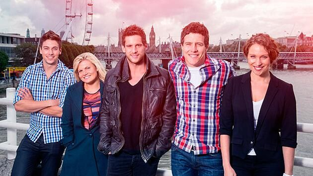 The River Boys are finally in London! #homeandaway in the UK: pic.twitter.com/h9oxWgtANk