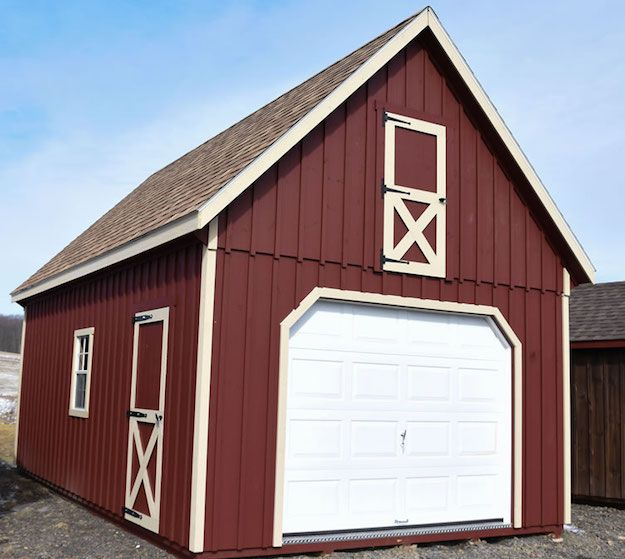 Raised Roof Garage With Images Shed Shed Design Roof Storage