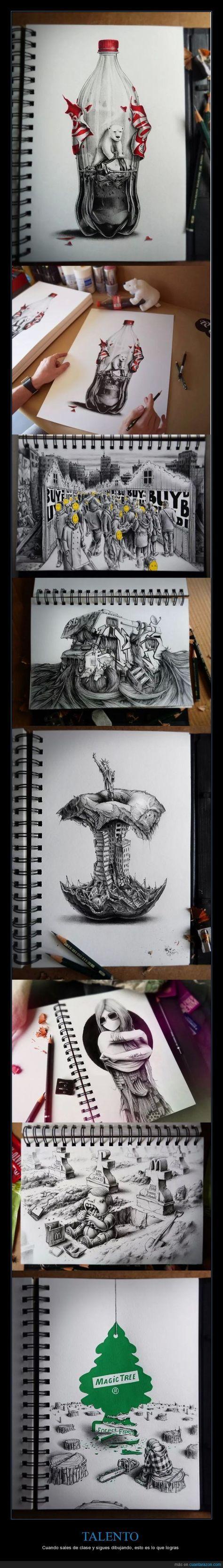 TALENTO - Cuando sales de clase y sigues dibujando, esto es lo que logras