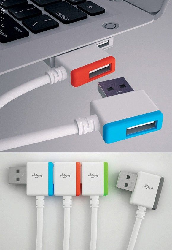 Stackable USB drives... genius!