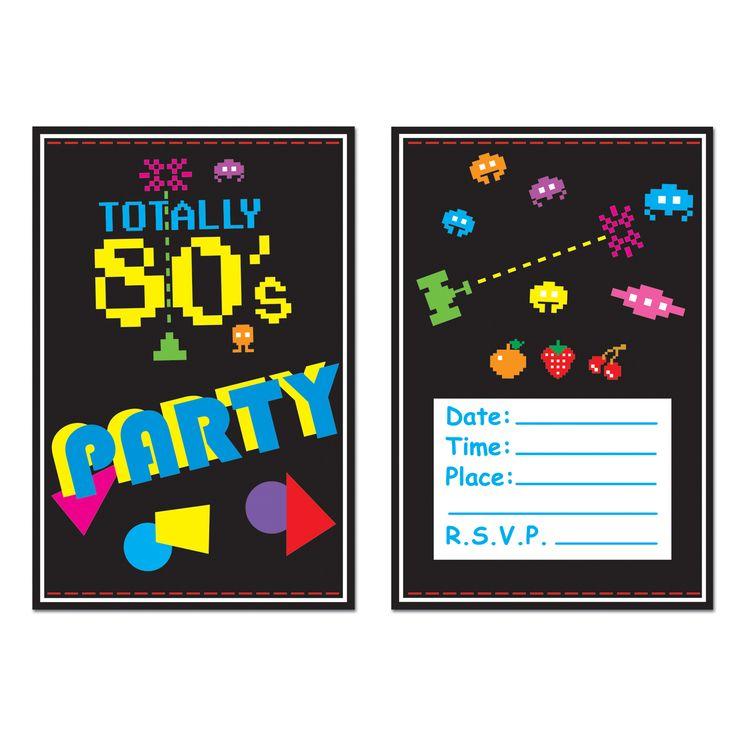 8 inviti Anni '80 su VegaooParty, negozio di articoli per feste. Scopri il maggior catalogo di addobbi e decorazioni per feste del web,  sempre al miglior prezzo!