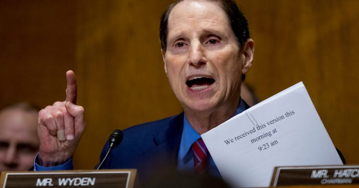 Ron Wyden also raises questions about the Senate's handling of the Trump-Russia investigation.