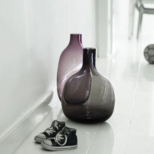 holmegaard gorgeous floor vase purple
