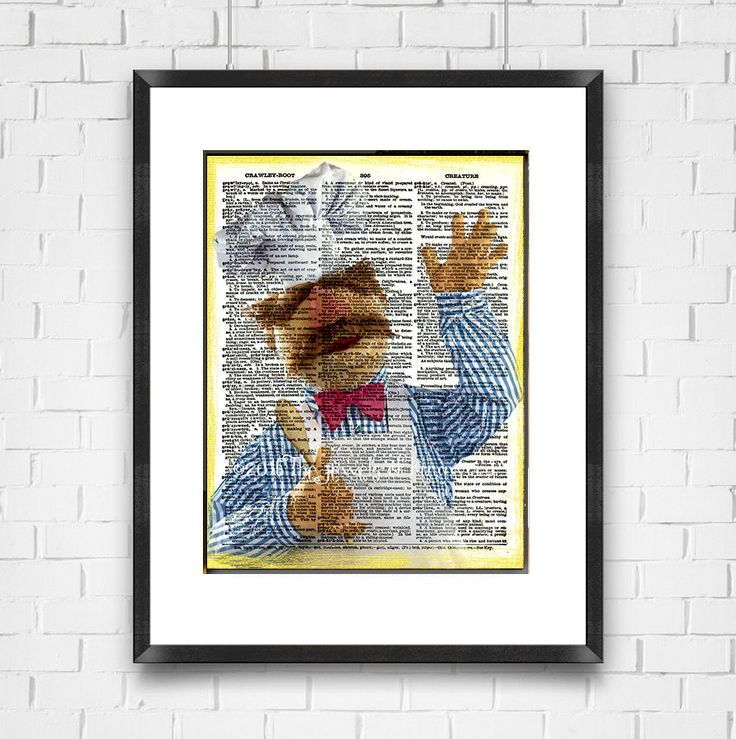 Muppets Dictionary Art Print, Swedish Chef, Muppets Poster, Home Decor, Wall Art, Ready To Ship, Digital Print, Valentines Gift, Made in USA by TheJewelsofKingwood on Etsy