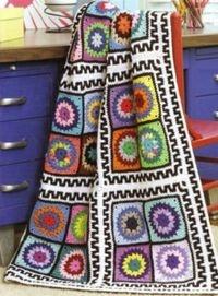 crochet blanket cool border