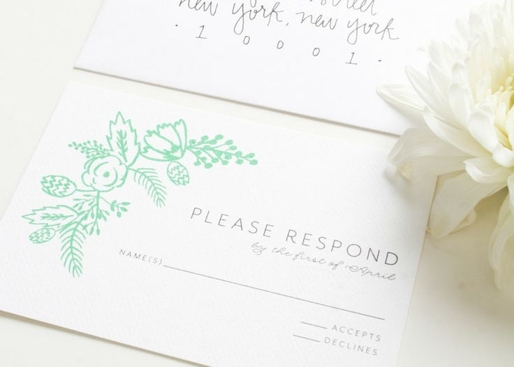 Botanical Wedding Invitation Save The Date Digital Or Letterpress Puddleduckpaper