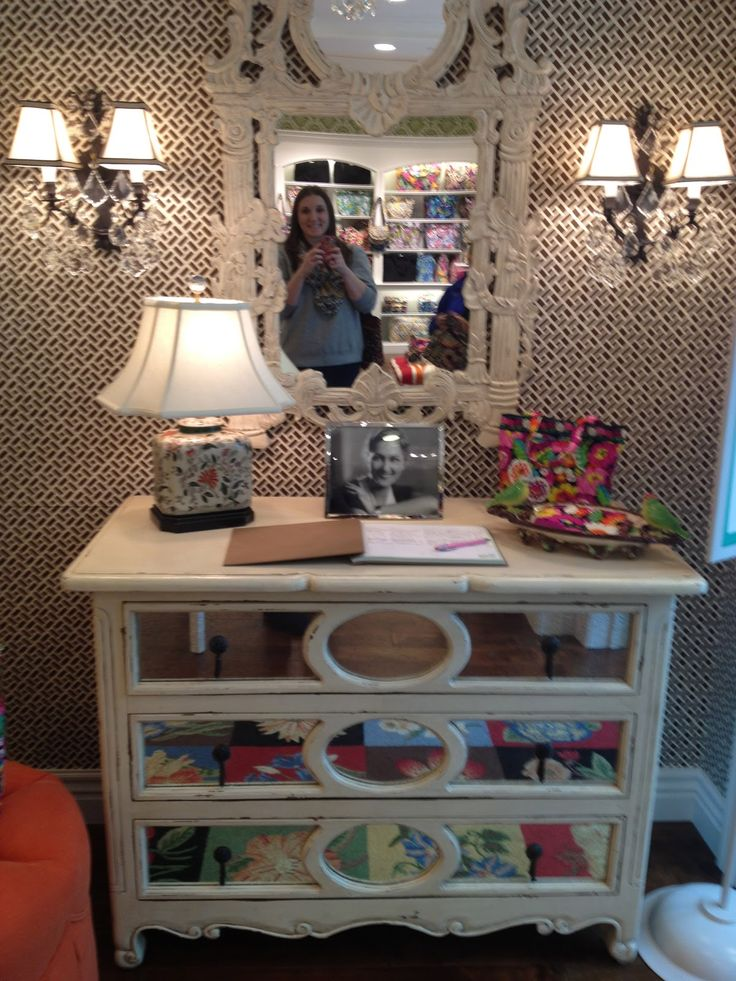 Love this vintage dresser from the new Vera Bradley store in Towson, MD!