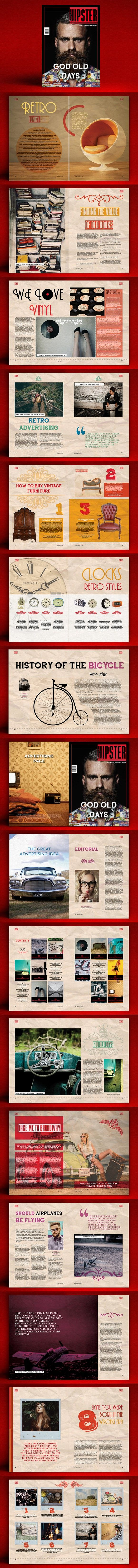 Hipster Magazine. Magazine Templates. $19.00