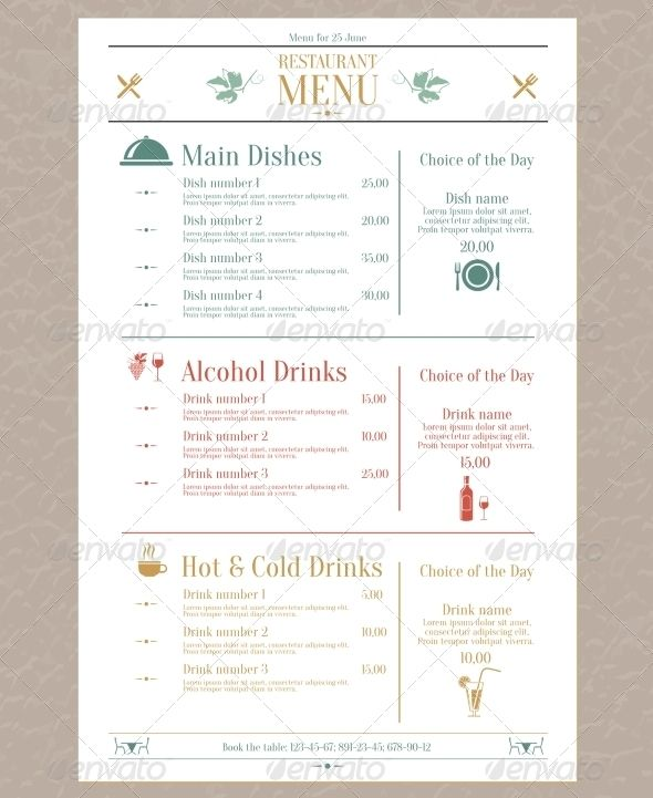 138 best Menu Design images on Pinterest Notebook, Handwriting - free cafe menu templates for word