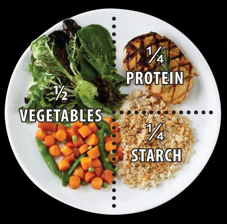 What are some guidelines to serving correctly sized food portions?