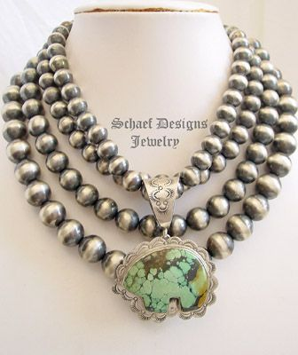 Best 25 southwestern jewelry ideas on pinterest green turquoise schaef designs southwestern turquoise totem bear pendant with sterling silver navajo pearls new mexico mozeypictures Image collections