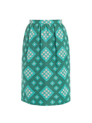Jonathan  Saunders  Roselyn  cotton  skirt