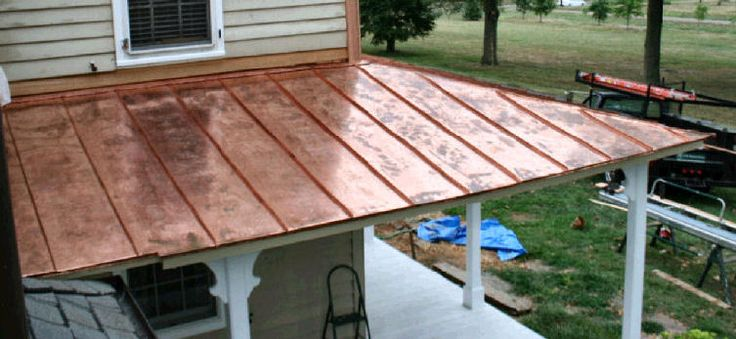 I'm liking the idea of having a partial copper roof---with ...
