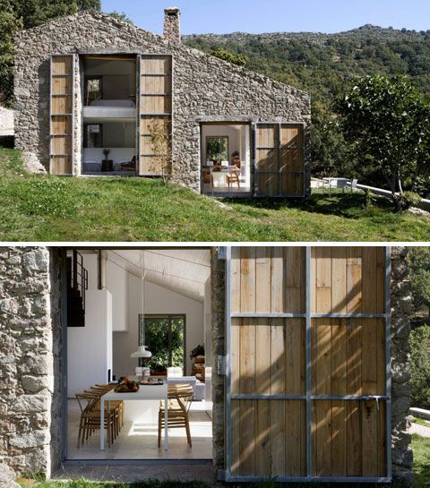 A beautiful Estate in Extramadura, Spain - I love the combination of wood, stone, and Oh, everything else... //