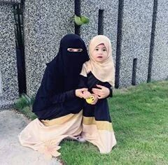 family, hijab, and niqab image