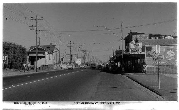 """Nepean Hwy Edithvale - note billboard for Craven """"A"""" cigarettes, you don't see outdoor advertising for tobacco these days!"""