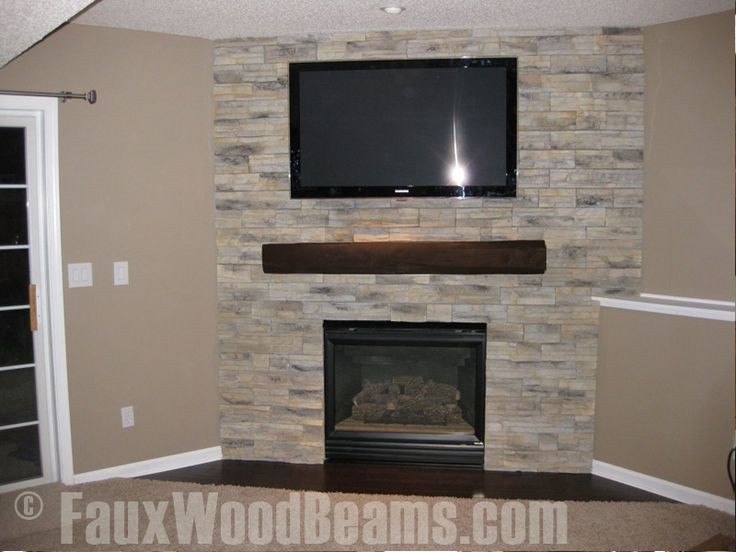 Faux wood beam to use on wall as shelf dream house ideas for Faux marble fireplace mantels