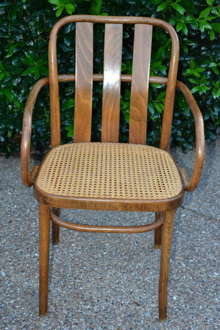 Antique Vintage Thonet Style Bentwood Cane Chair Original