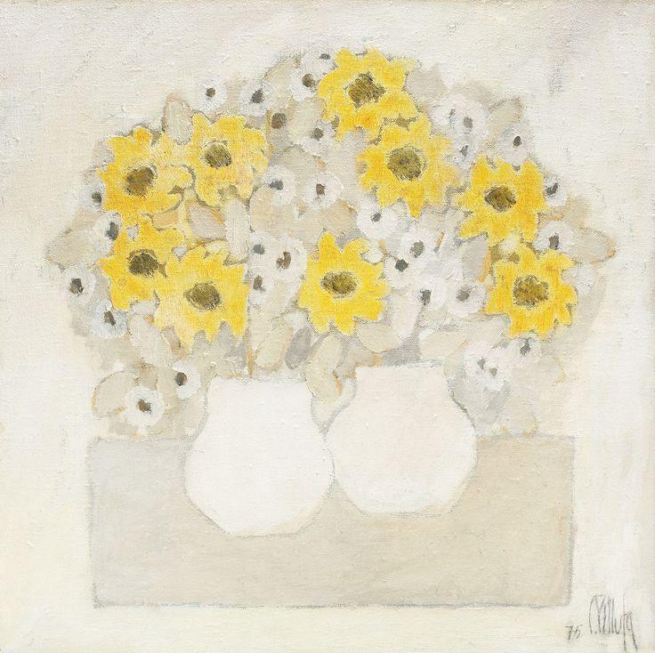 Constantin Piliuta, flowers, vase, still life