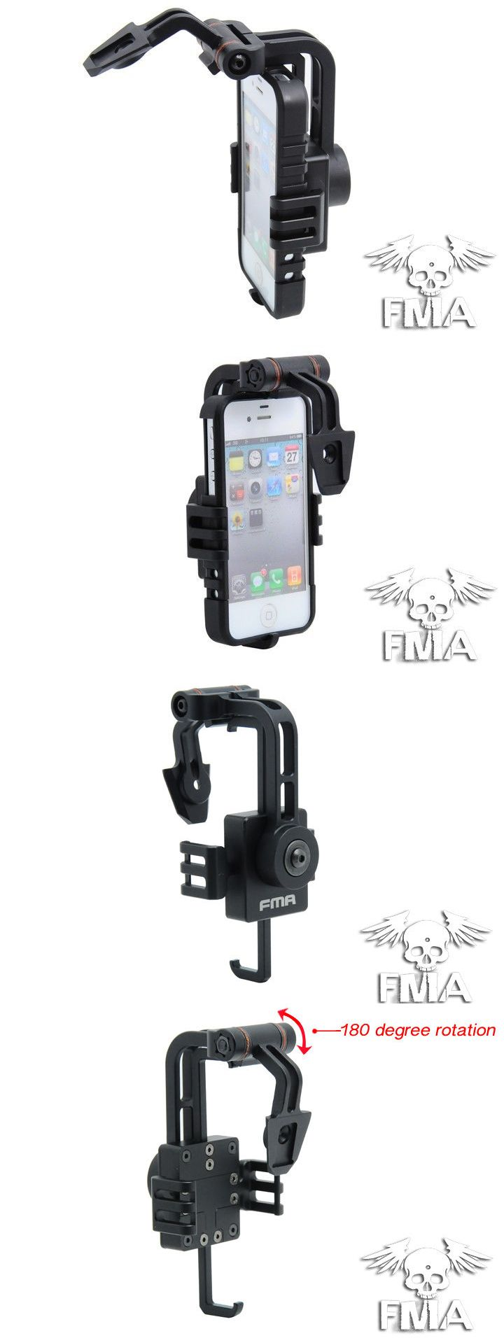 Helmet Accessories 177865: Fma Helmet Mount For Iphone 4 4S (Black) Tb642 -> BUY IT NOW ONLY: $76 on eBay!